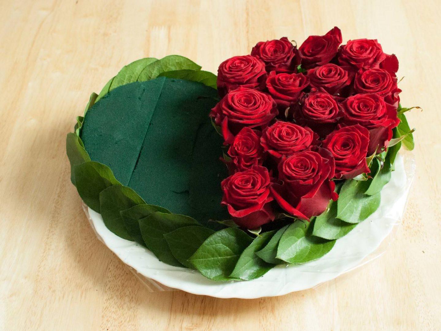 Мастер класс сердце с розами
