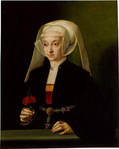 Bartholomäus Bruyn d. Ä. - Bildnis einer jüngeren Frau mit Nelke Wallraf Richartz Museum, Köln Copyright Rheinisches Bildarchiv, Köln